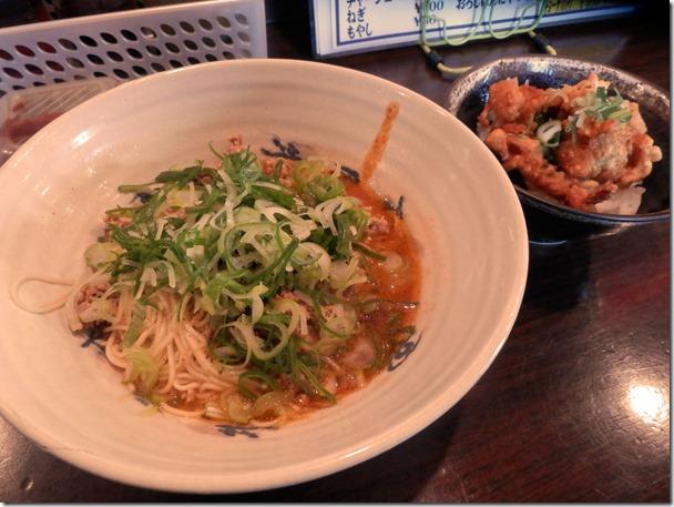 らーめん与壱大芝店さんの汁なし担々麺と鶏から丼